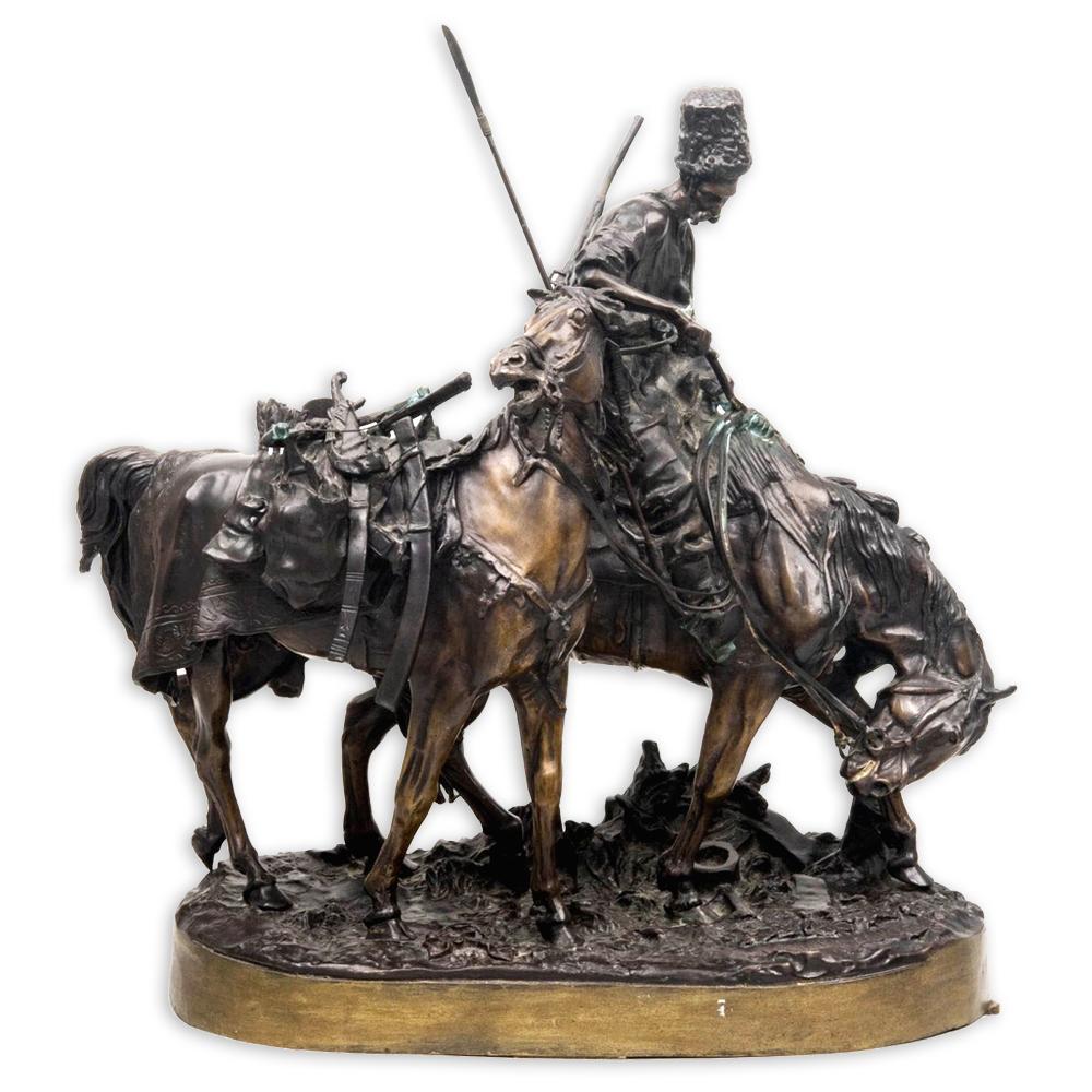 """Скульптура """"Запорожец после битвы"""""""