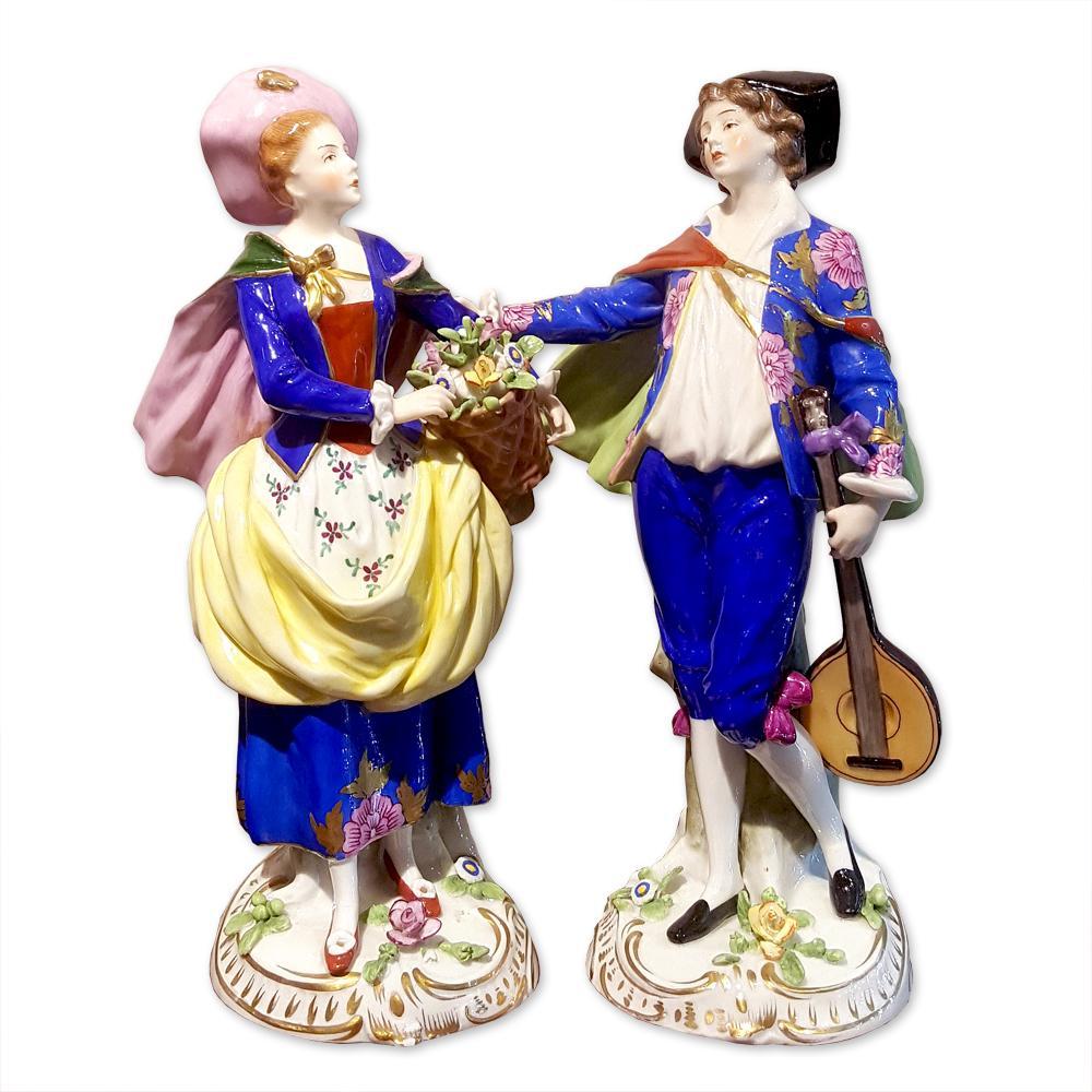 """""""Юноша с мандолиной и девушка с корзиной цветов"""""""